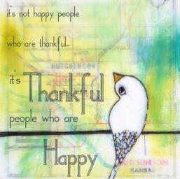 Thankful birdie