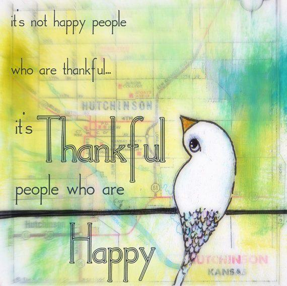 I'm Happy to be Thankful!